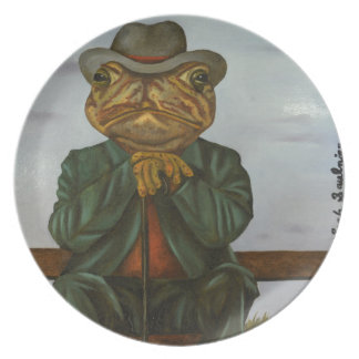 The Wise Toad Plate