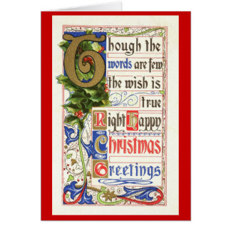 The Wish is True Christmas 1911 Vintage Card