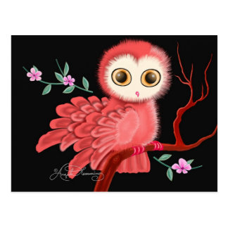 The Wistful Owl Postcard, Note Cards, Greeting