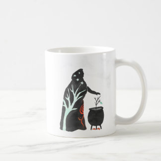 The Witch And Her Cauldron Coffee Mug