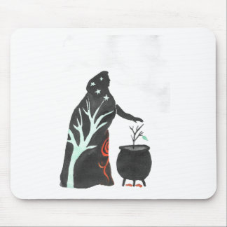 The Witch And Her Cauldron Mouse Pad