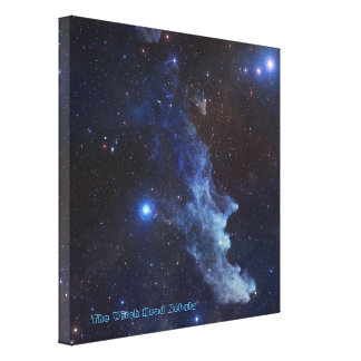 The Witch Head Nebula with Title Gallery Wrap Canvas