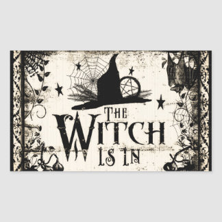 The Witch Is In!  Stickers