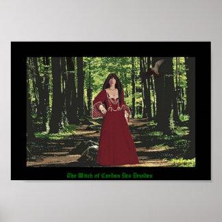 The Witch of Cordon Des Druides Print