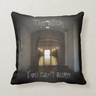 """The Witch You Can't Burn"" Cotton Throw Pillow"