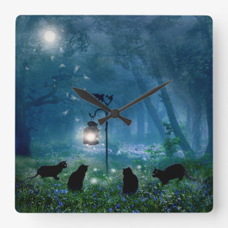 The Witches Cats Clock