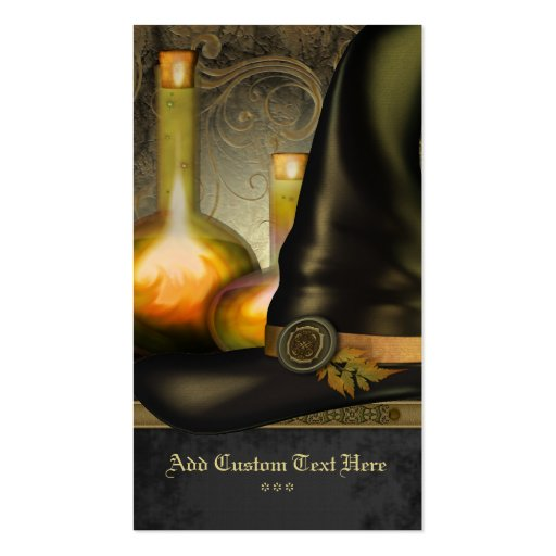 The Witches Hat Social Profile Card Business Cards