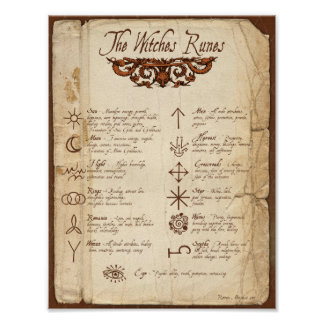 The WITCHES RUNES Poster
