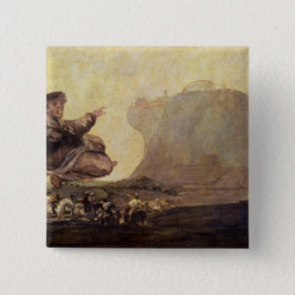 The Witches' Sabbath, c.1819-23 2 Inch Square Button