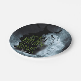 The Witching Hour Begins Paper Plate