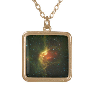 The Wizard Nebula Gold Plated Necklace