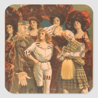 """""""The wizard of Oz"""" Musical Theatre Poster #1 Square Stickers"""