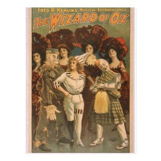 The Wizard of Oz Retro Theatre Postcard