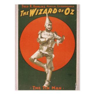 The Wizard of Oz, 'The Tin Man' Retro Theater Postcard