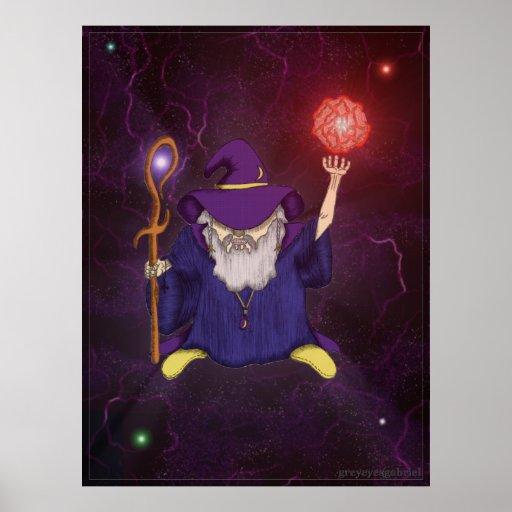 The Wizard v5 by greyeyesgabriel Posters