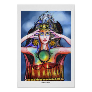 The Wizard Woman Portrait Poster
