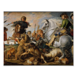 The Wolf and Fox , Hunt Peter Paul Rubens, 1616 Poster
