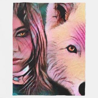 The Wolf Inside Fleece Blanket
