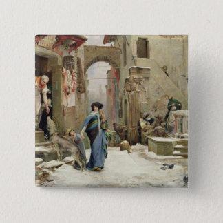 The Wolf of Gubbio, 1877 2 Inch Square Button