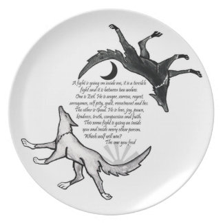 The wolf you feed Plate