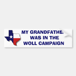 THE WOLL CAMPAIGN BUMPER STICKER