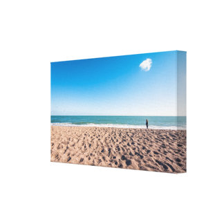 The woman and her cloud canvas print