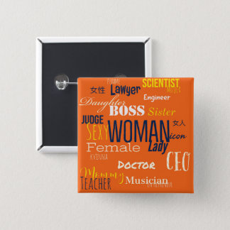 THE WOMAN BUTTON (Tangerine)