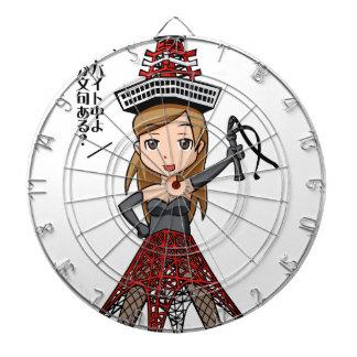 The woman English story, Minato Tokyo Yuru-chara a Dartboard