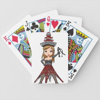 The woman English story, Minato Tokyo Yuru-chara a Poker Deck