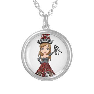 The woman English story, Minato Tokyo Yuru-chara a Silver Plated Necklace