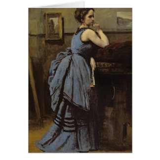 The Woman in Blue, 1874 Card