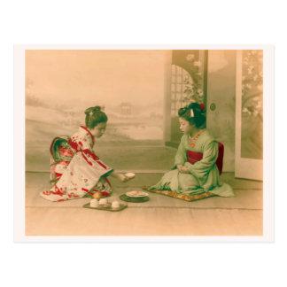 The woman Japanese kimono vuinteji photograph Postcard
