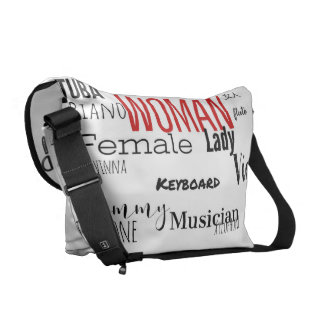THE WOMAN MESSENGER BAG MUSIC EDITION (blk/red)