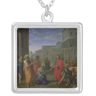 The Woman Taken in Adultery, 1653 Silver Plated Necklace