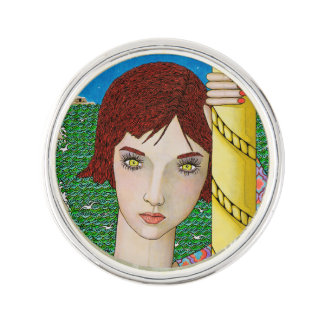 THE WOMAN WITH GOLDEN EYES LAPEL PIN