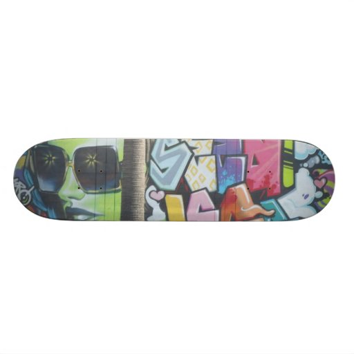 The woman with the black glasses - skate boards