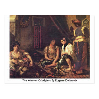 The Women Of Algiers By Eugene Delacroix Postcard