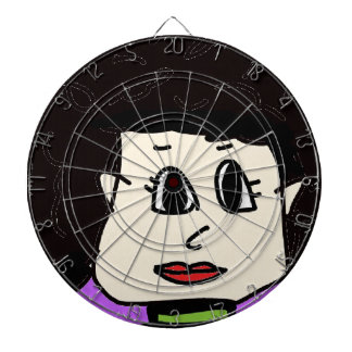 the women with black hair dartboard