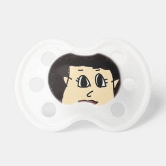 the women with black hair pacifier