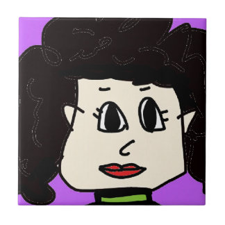 the women with black hair tile