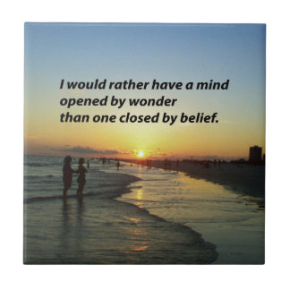 The wonder of it all Inspirational quote Tile