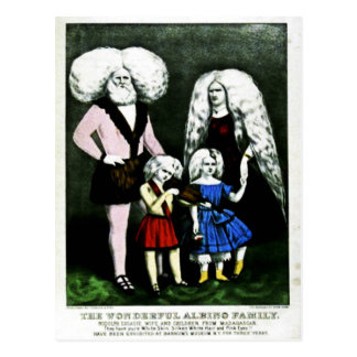 The Wonderful Albino Family Postcard