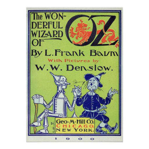 The Wonderful Wizard of Oz -- 1900 Posters