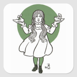 The wonderful wizard of Oz Square Sticker