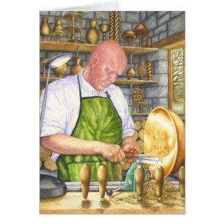 The Wood Turner Greeting Card