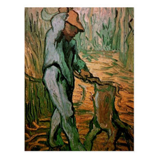 The Woodcutter after Millet by Vincent van Gogh Postcard