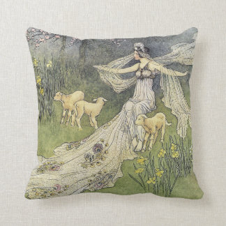 The Woodcutter's Daughter Warwick Goble Fine Art Throw Pillow