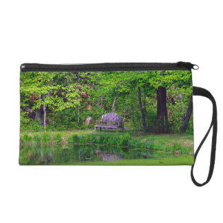 The Wooden Bench Wristlet Clutch
