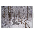 """""""The Woods Are Lovely"""" Encouragement Card Design"""