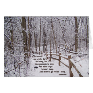 """The Woods Are Lovely"" Encouragement Card Design"